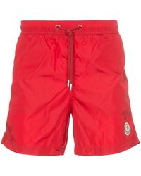 Moncler - Logo Patch Swim Shorts - Lyst