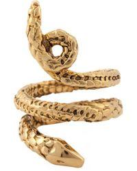 Aurelie Bidermann | 'asclepios' Snake Ring | Lyst