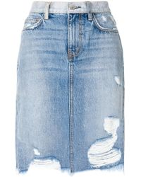 Current/Elliott | Distressed High-waisted Skirt | Lyst