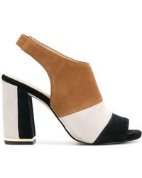 13312b15911 Michael Michael Kors Yvonne Cutout Leather Sandals in Brown - Lyst