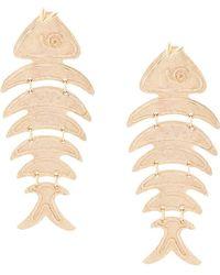 Oscar de la Renta - Bold Fish Long Earrings - Lyst