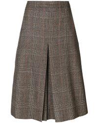 Veronique Branquinho - Tweed Pleat Skirt - Lyst