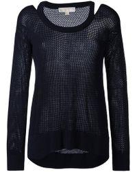 MICHAEL Michael Kors - Cut-out Knit Top - Lyst