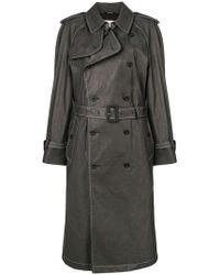 Maison Margiela - Contrast Stitch Trench Coat - Lyst