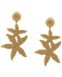 Oscar de la Renta - Double Starfish Earrings - Lyst