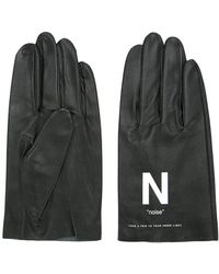 Undercover - Slogan Printed Gloves - Lyst