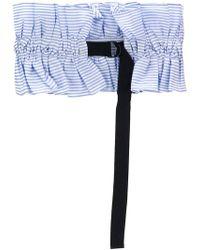 MUVEIL - Stripe Ruched Waist Belt - Lyst