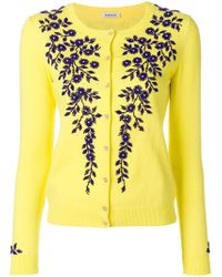 P.A.R.O.S.H. - Beaded Floral Cardigan - Lyst