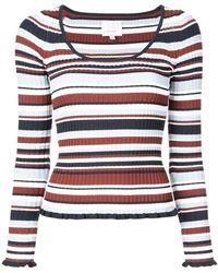 Cinq À Sept - Striped Sweater - Lyst