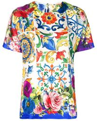 Dolce & Gabbana - Majolica Print Top - Lyst