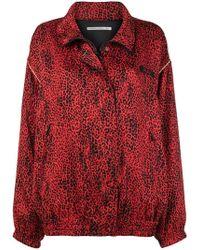 Alessandra Rich - Leopard Print Sports Jacket - Lyst