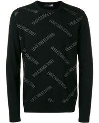 Love Moschino - Intarsia Sweater - Lyst