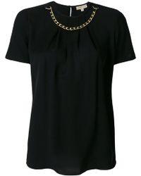 MICHAEL Michael Kors - Chain Neck T-shirt - Lyst
