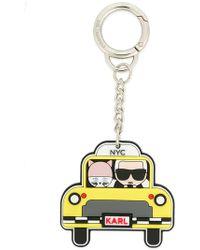 Karl Lagerfeld - Nyc Taxi Keychain - Lyst