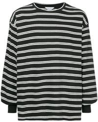 Unused - Long-sleeved Striped T-shirt - Lyst