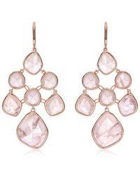 Monica Vinader - Rp Siren Chandelier Rose Quartz Earrings - Lyst