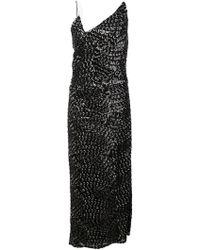 Christian Siriano - Sequin Midi Dress - Lyst