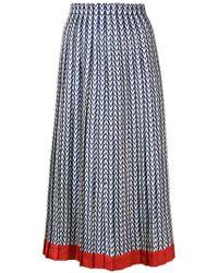 Valentino - Optical Logo Print Skirt - Lyst