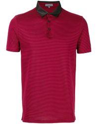 Lanvin - Striped Polo Shirt - Lyst