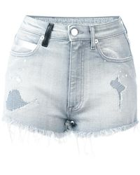Marcelo Burlon - Distressed Denim Shorts - Lyst