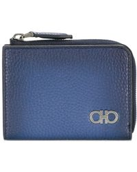 Ferragamo - Double Gancio Zipped Wallet - Lyst