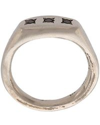 Henson - Triple Signet Ring - Lyst