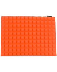 NO KA 'OI - Large Grid Textured Pouch - Lyst