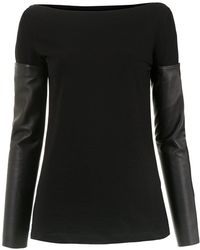Gloria Coelho - Detachable Sleeves Blouse - Lyst