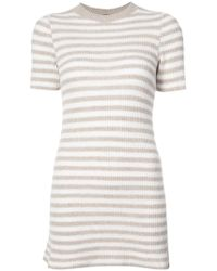 The Elder Statesman - Cashmere Striped Knitted Dress - Lyst