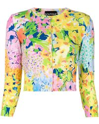 Boutique Moschino - Floral Cardigan - Lyst