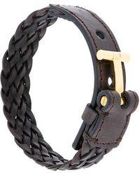 Tom Ford - Bracelet en cuir tressé - Lyst