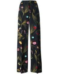 Fendi - Floral Print Trousers - Lyst