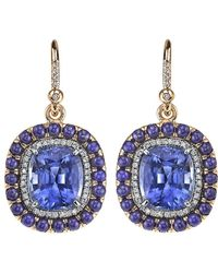 Irene Neuwirth - Lapis Lazuli, Sapphire And Diamond Earrings - Lyst