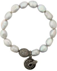 Loree Rodkin - Pearl Diamond Charm Bracelet - Lyst