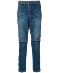 Sacai - Belted Slim-fit Jeans - Lyst