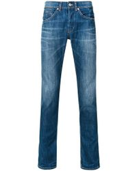 Dondup - Faded Straight Leg Jeans - Lyst