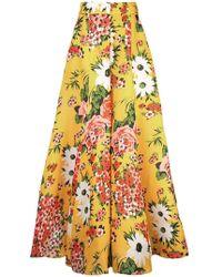 Carolina Herrera - Pantalones florales acampanados - Lyst