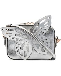 Sophia Webster - Flossy Metallic-leather Butterfly Camera Bag - Lyst