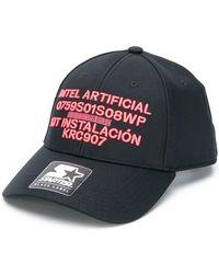 16868ed6d85 Marcelo Burlon - X Starter Black Label Front Stamp Hat - Lyst