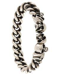 Werkstatt:münchen - Skull Chain Bracelet - Lyst