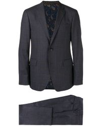 Etro - Prince Of Wales Patterned Suit - Lyst