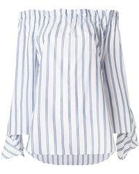 Erika Cavallini Semi Couture - Striped Bardot Top - Lyst