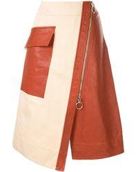 Cedric Charlier - Front Zipped Skirt - Lyst