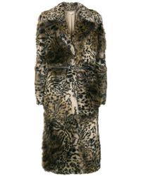 Stella McCartney - Leopard Print Faux-fur Coat - Lyst