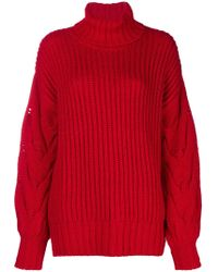 P.A.R.O.S.H. - Turtle Neck Knit Jumper - Lyst