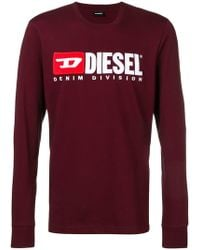 DIESEL - Embroidered Logo Jersey Sweater - Lyst