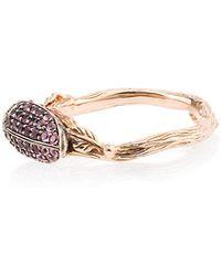 Bibi Van Der Velden - 18k Rose Gold Scarab Amethyst Ring - Lyst