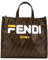 Fendi - X Fila Shopper mit Logo-Print - Lyst