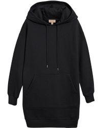 Burberry - Embroidered Hood Sweatshirt Dress - Lyst