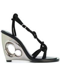 Alexander McQueen - Sculpted Wedge Sandal - Lyst